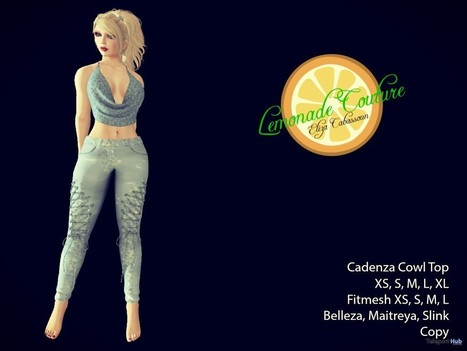 Cadenza Cowl Top September 2016 Group Gift by Lemonade Couture | Teleport Hub - Second Life Freebies | Second Life Freebies | Scoop.it