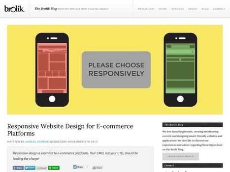 Responsive Website Design for E-commerce Platforms : The Brolik … | Technology | Scoop.it