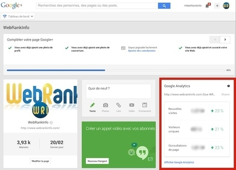 Comment relier Google Analytics à une page Google+ | CommunityManagementActus | Scoop.it