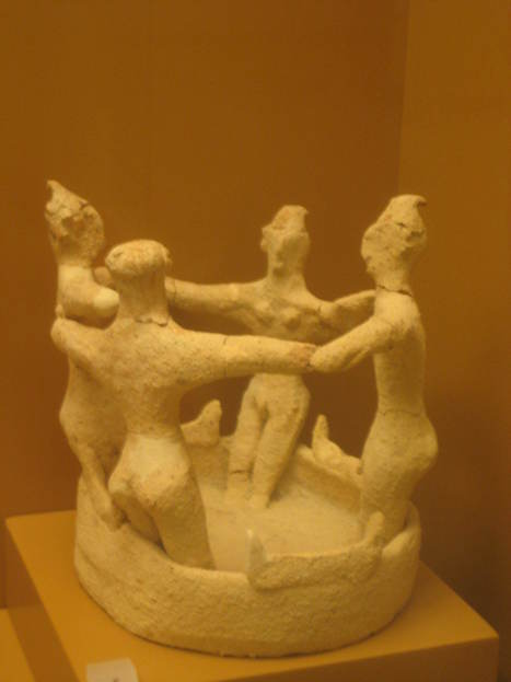 """""""Dancers from Kamilari"""" of tomb is kept in the Arch. Museum of Heraklion & depicts four dancers in a circle #Crete   #Crete Island Adventure   Scoop.it"""