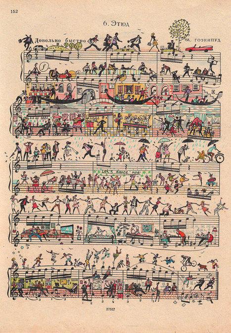 Sheet music art by Mike Lemanski | Creatively Teaching: Arts Integration | Scoop.it