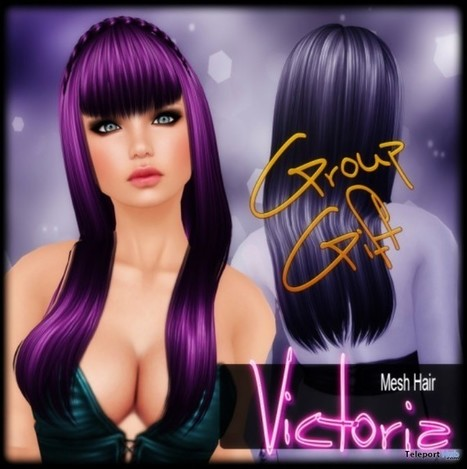 Victoria Mesh Hair Group Gift by VENUS | Teleport Hub - Second Life Freebies | Second Life Freebies | Scoop.it