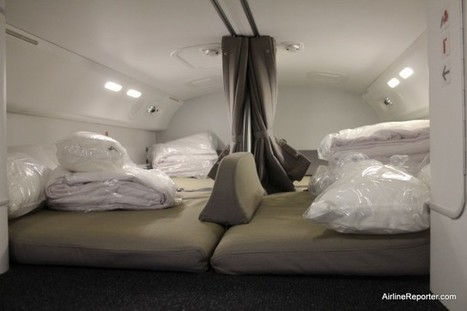 Inside Look: Crew Rest Areas on Different Airliners - AirlineReporter | Aviation & Airliners | Scoop.it