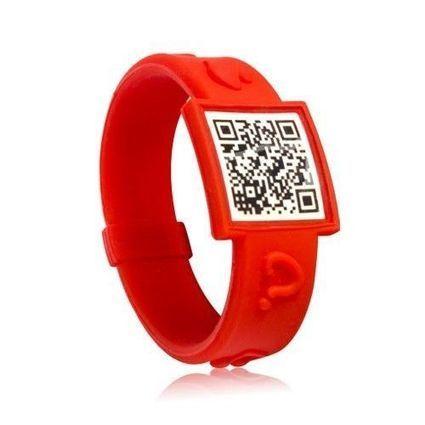 QR Code Social/Medical ID Wristband - Silicone Digital Indicator Bracelet   QR Codes   Scoop.it