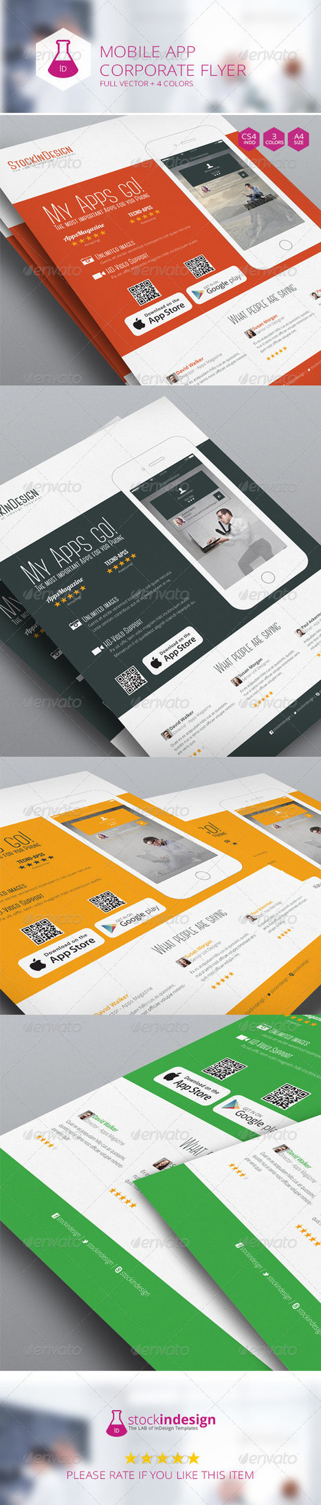 Mobile App Flyer - Flat Design (Corporate) | Something about Flat Design | Scoop.it
