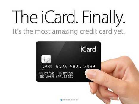A Credit Card From Apple: Here's What It Would Look Like | Geekers | Scoop.it