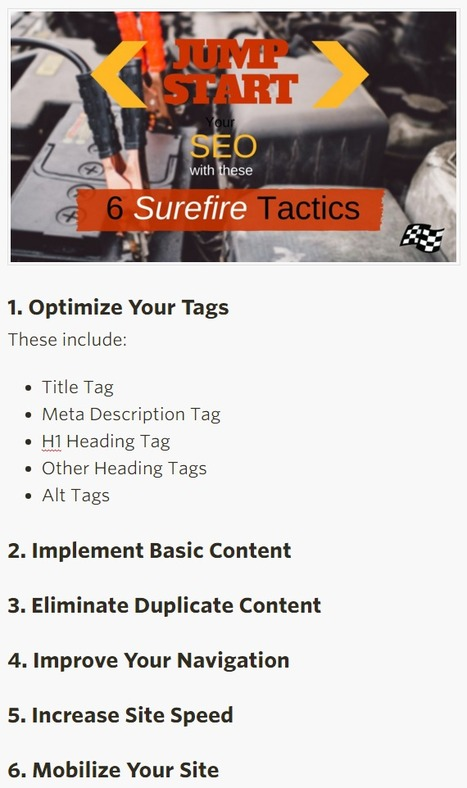 Jump-Start Your SEO With These 6 Surefire Tactics - Search Engine Land | Content Creation, Curation, Management | Scoop.it