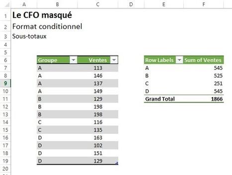 Excel : Mettre en évidence les sous-totaux en quelques clics de souris | MSExcel | Scoop.it