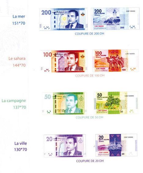 De nouveaux billets marocains en circulation depuis le 15 août (5ème série dans l'histoire du Maroc)   Morocco en bref   Scoop.it
