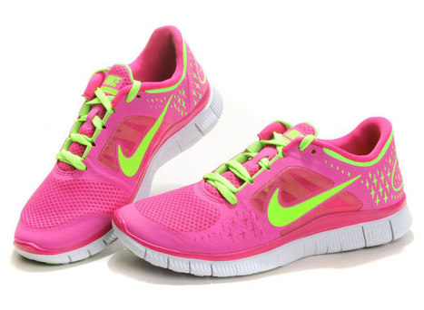 Cheap And Nice Nike Free Run 3 Womens Running Shoes Pink Green | nike free pink | Scoop.it