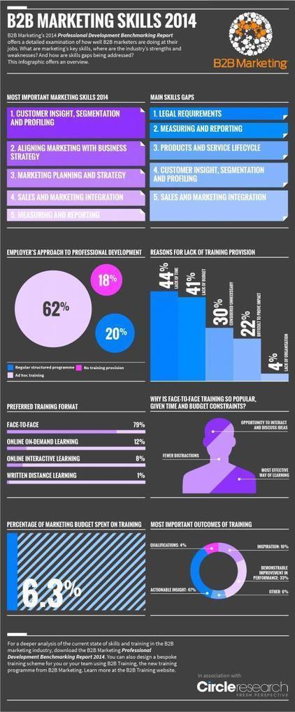 INFOGRAPHIC: B2B marketing skills 2014 | b2bmarketing.net | marketing | Scoop.it