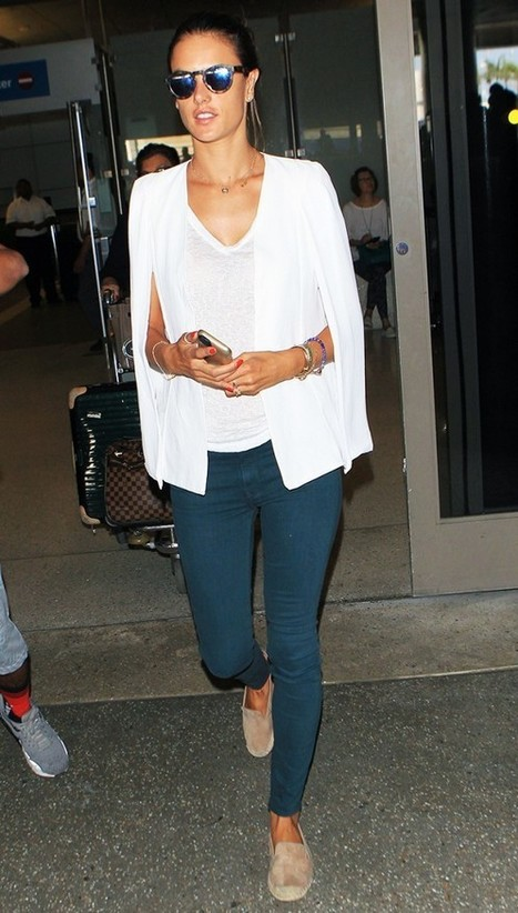 9 Celebrity Airport Outfits That Work Perfectly With Flats | WhoWhatWear.com | Travel Tips and Destinatinations | Scoop.it