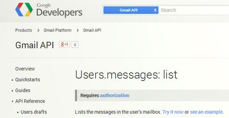 ATTENTION : Google lance une API Gmail pour donner accès à vos e-mails ! | actu sur les réseaux sociaux | Scoop.it