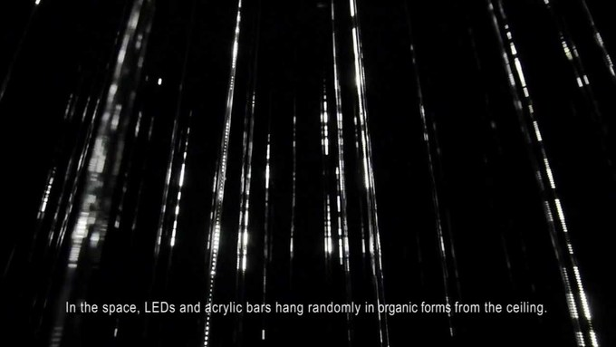 White Rain - Interactive Lighting Installation by Matsuo Takahiro    #mediaart #soundart
