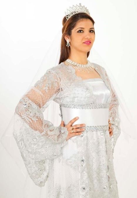 Caftan blanc pour mariage marocain en France | caftanboutique | Scoop.it