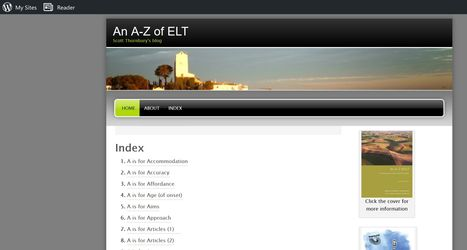 """An A-Z of ELT"" | EFL-ESL, ELT, Education | Language - Learning - Teaching - Educating | Scoop.it"