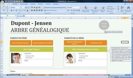 Microsoft Office Excel propose un modèle de généalogie - genBECLE.org | Nos Racines | Scoop.it