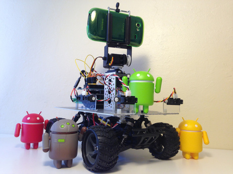 Autonomous Android Phonebot Tracks, Chases Toy Like Housecat | Arduino, Netduino, Rasperry Pi! | Scoop.it