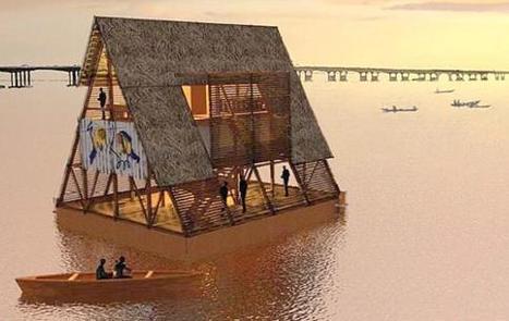 Una scuola galleggiante con pannelli fotovoltaici e 256 barili galleggianti - case galleggianti, raccolta acqua, smaltimento rifiuti | Rpo... | Scoop.it