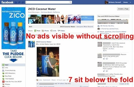 Facebook tests 7 ads on single page | Around facebook. | Scoop.it