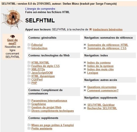 SELFHTML 8.0 (réaliser soi-même des fichiers HTML) | Veille informatique | Scoop.it