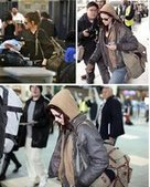 Kristen Stewart street style in jeans, hoodie and canvas daypacks | personalized canvas messenger bags and backpack | Scoop.it