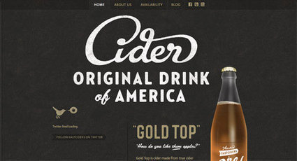30 Fresh Examples of Vintage Style Typography within Web Design | timms brand design | Scoop.it