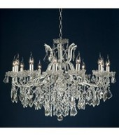 12 Arm Crystal Cut Silver Chandelier | Interiors | Scoop.it