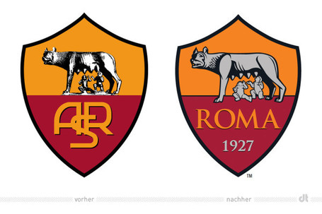AS ROMA (Italy) Unveils Updated Brand Identity | Corporate Identity | Scoop.it