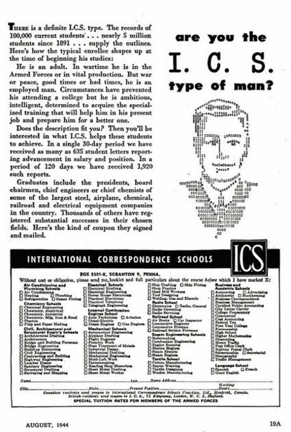 Typewriter Ad from 1944 | ASCII Art | Scoop.it