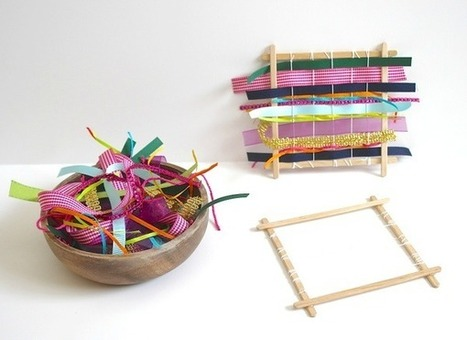 Weaving with Kids Using Ribbons and Fabric | Parent Autrement à Tahiti | Scoop.it
