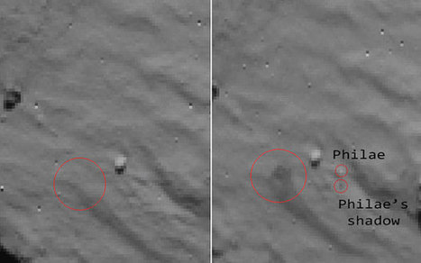 Rosetta mission: Philae finally spotted on comet | historian: science and earth | Scoop.it