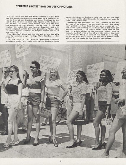 Strippers Protest Censorship, 1959   Sex Work   Scoop.it