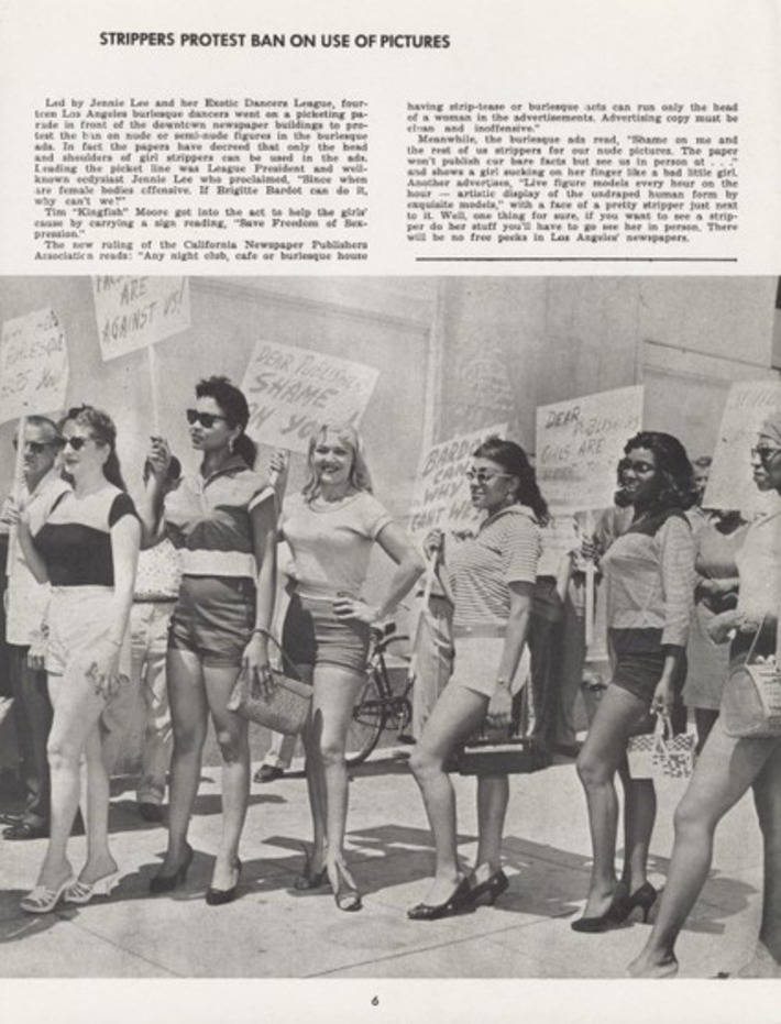Strippers Protest Censorship, 1959 | Sex Work | Scoop.it