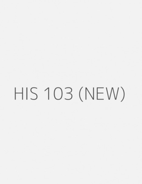 HIS 103 (New) ENTIRE COUSRE | UopGuide.com | Scoop.it