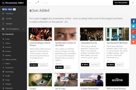 A Curated Collection of Free Video Documentaries Online: Documentary Addict | Content Curation World | Scoop.it