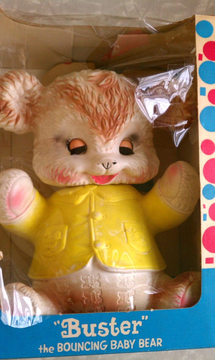 Vintage Squeaky Toy Buster Bear in BOX Arrow Rubber Edward Mobley 1963 | Antiques & Vintage Collectibles | Scoop.it