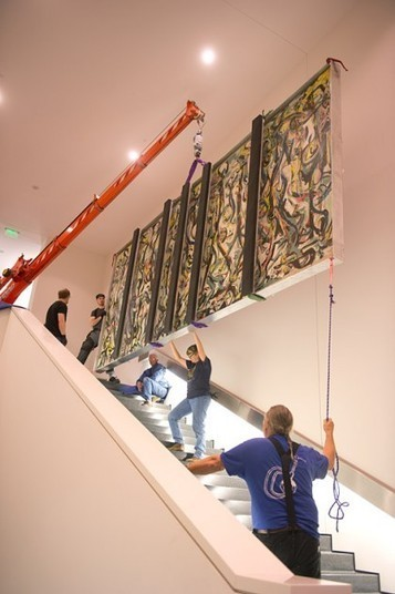 Pollock's painting is anything but portable | AUDITORIA, mouseion Broadband | Scoop.it