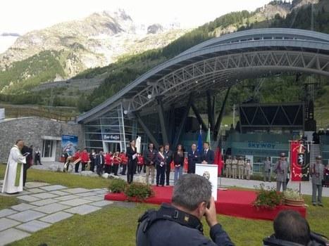 Matteo Renzi a inauguré le téléphérique du mont Blanc | Ecobiz tourisme - club euro alpin | Scoop.it
