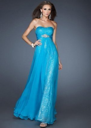 2013 New Turquoise Sequin Inside Chiffon Prom Dress [New Turquoise Sequin] - $203.90 : www.thedresses2014.com | long prom dresses | Scoop.it