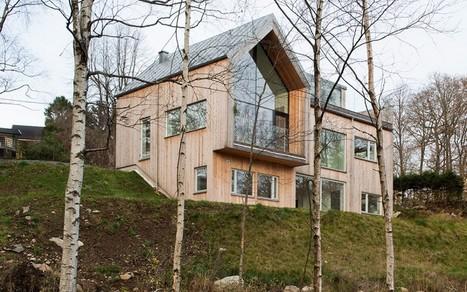 Maison su doise contemporaine en bois av - Toit vitre maison ...