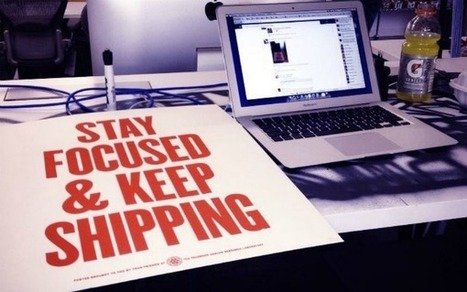 Zuckerberg to Self: Stay Focused and Keep Shipping [PIC] | An Eye on New Media | Scoop.it