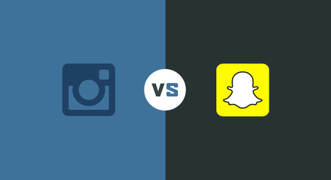 Instagram VS Snapchat en une infographie ! | Digital Social Club | Scoop.it