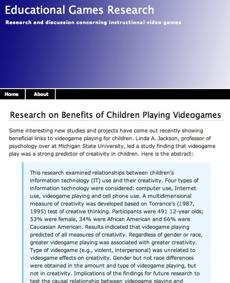 Educational Games Research | Interactive Fiction and Digital Game-based Learning | Scoop.it