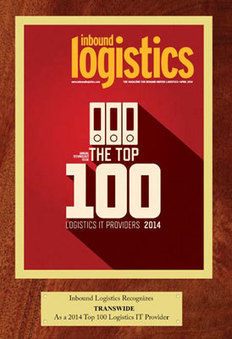 Transwide dans le top 100 des fournisseurs pour la logistique - Flash Transport | Logistique et Transport GLT | Scoop.it