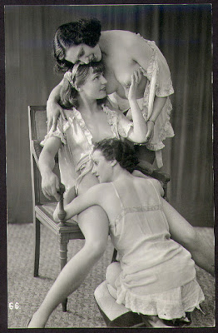 Women in Love. Real photo postcard, France circa 1930; photo by the Ostra Studio, Paris | Sex History | Scoop.it