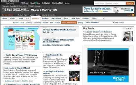 Wall Street Journal Media News   Top sites for journalists   Scoop.it