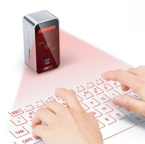 Magic Cube Projects Virtual Keyboard for Typing Anywhere | PadGadget | iPad i undervisningen | Scoop.it