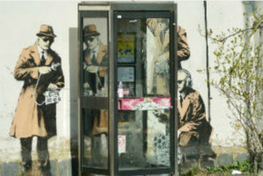 Banksy confirms Cheltenham 'Spybooth' art is his | Industry Press | Scoop.it