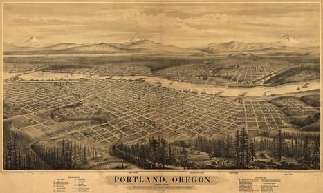 es-glovers-birdseye map-portland-oregon- 1879 | PDX water maps and messes | Scoop.it